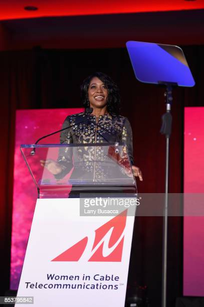 Vice President State Government Affairs for Charter Communications South Region Marva Johnson speaks onstage during the WICT Leadership Conference at...
