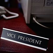 Vice President Title on a Nameplate