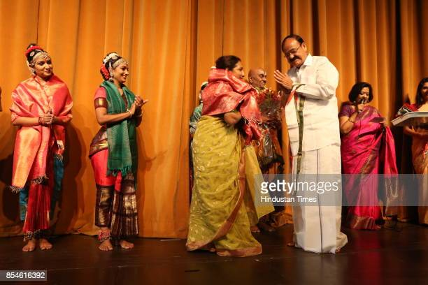 Vice President Venkaiah Naidu with Kaushalya during the 21st Parampara Series National Festival of Music and Dance with the aim of celebrating and...