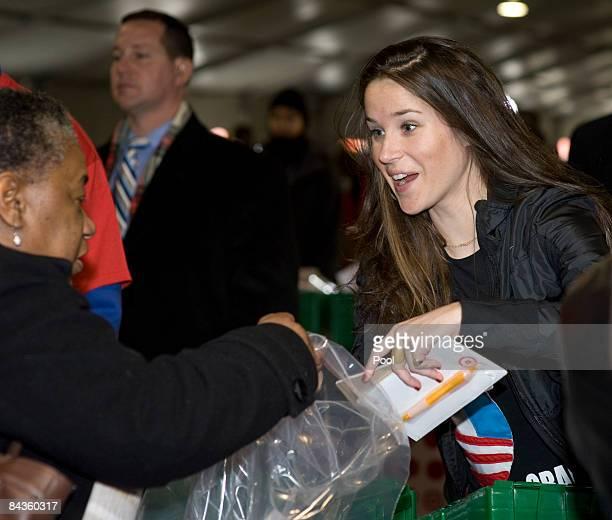 Vice Presidentelect Joseph Biden's daughter Ashley Biden takes part in 'Operation Gratitude' a public service event with Jill Biden and...