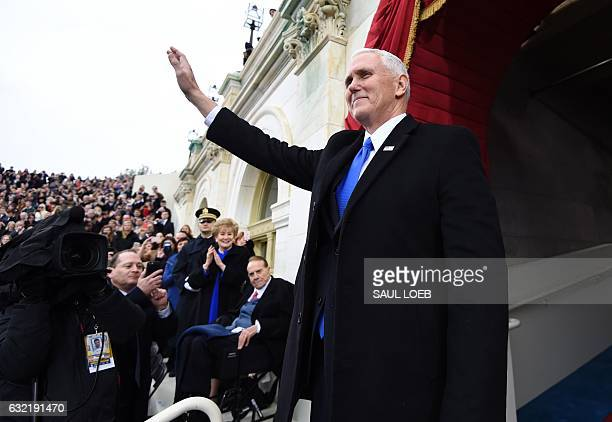 US Vice Presidentelect Mike Pence arrives for the Presidential Inauguration of Donald Trump at the US Capitol in Washington DC on January 20 2017 /...