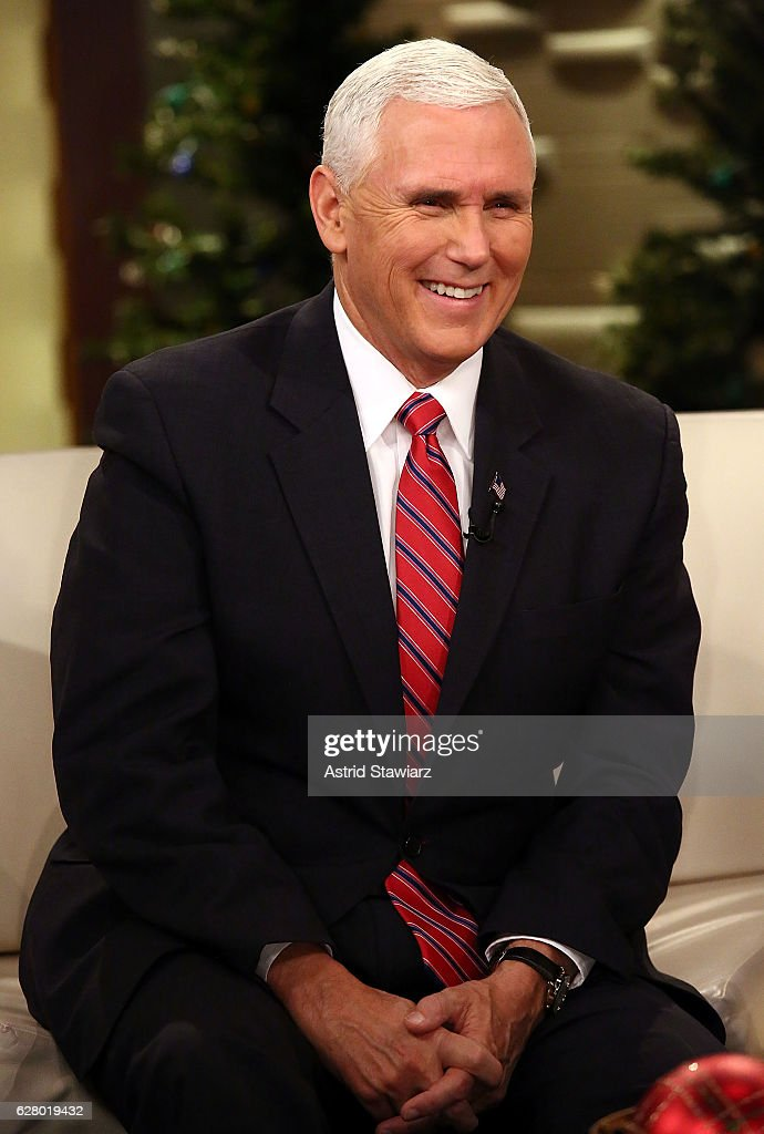 Vice President-Elect Mike Pence visits 'Fox & Friends' at Fox News Studios on December 6, 2016 in New York City.