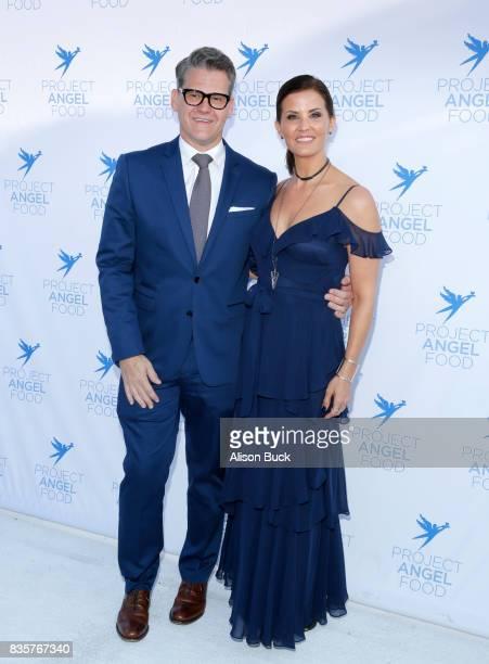 Vice president/news director at KTLA 5 News Jason Ball and KTLA5 news anchor Lu Parker attend Project Angel Food's 2017 Angel Awards on August 19...