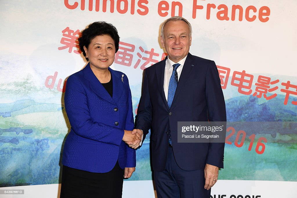 Vice Prime Minister of China <a gi-track='captionPersonalityLinkClicked' href=/galleries/search?phrase=Liu+Yandong&family=editorial&specificpeople=4375362 ng-click='$event.stopPropagation()'>Liu Yandong</a> and Former French Prime Minister <a gi-track='captionPersonalityLinkClicked' href=/galleries/search?phrase=Jean-Marc+Ayrault&family=editorial&specificpeople=551961 ng-click='$event.stopPropagation()'>Jean-Marc Ayrault</a> attend the 6th Chinese Film Festival
