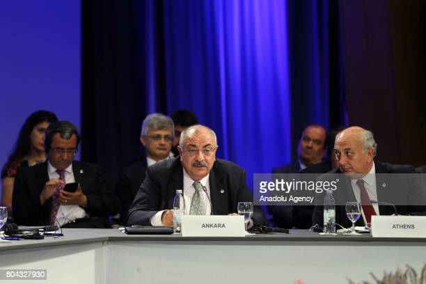 Vice Prime Minister of Turkey Tugrul Turkes speaks during the 21st Southeast European Cooperation Process Summit in Zagreb Croatia on June 30 2017