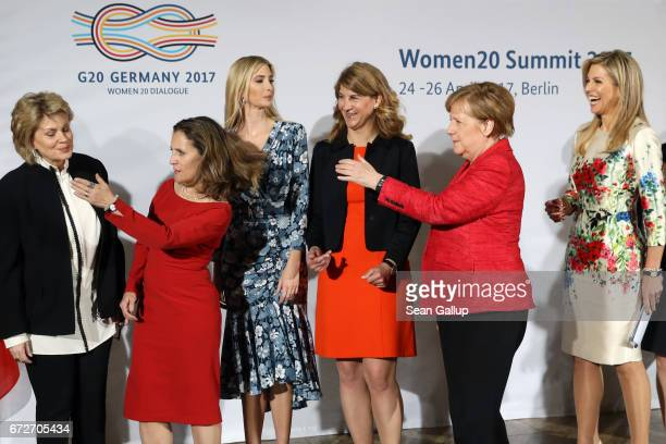 ViceChairman of Bank of America Anne Finucane Canadian Minister of Foreign Affairs Chrystia Freeland Ivanka Trump daughter of US President Donald...
