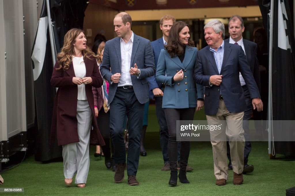 The Duke Of Cambridge & Prince Harry Attend The Coach Core Graduation : News Photo