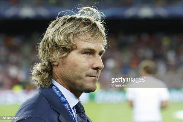vicechairman Pavel Nedved of Juventus FC during the UEFA Champions League group D match between FC Barcelona and Juventus FC on September 12 2017 at...