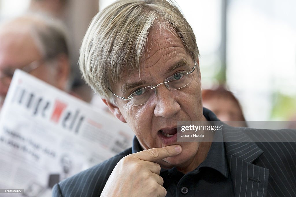 Vice-head of the Bundestag faction of far-left party Die Linke, Dietmar Bartsch looks on during the party's federal convention on June 15, 2013 in Dresden, Germany. Die Linke, Germany's main left-wing political party, are meeting to decide on their policy program for German federal elections scheduled for September.
