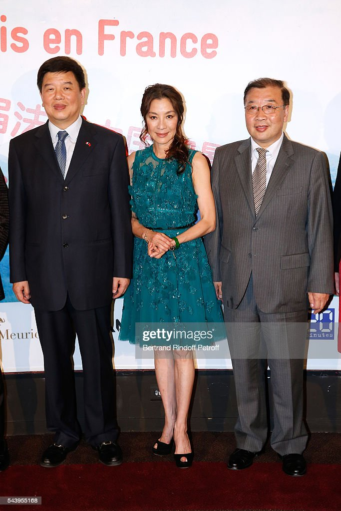 Vice-Minister of SAPPFRT, Tong Gang, Actress <a gi-track='captionPersonalityLinkClicked' href=/galleries/search?phrase=Michelle+Yeoh&family=editorial&specificpeople=223894 ng-click='$event.stopPropagation()'>Michelle Yeoh</a> and Deputy Director General of the Office of Film in SAPPRFT, Luan Guozhi attend the 6th Chinese Film Festival