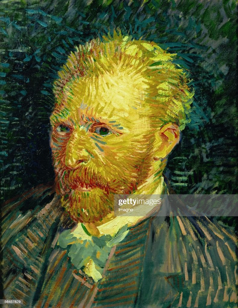 Vicent Van Gogh. Self-portrait. Oil on canvas (1887). 44,1 x 35,1 cm. (Photo by Imagno/Getty Images) [Vicent Van Gogh, Selbstportrait. Gemaelde. 1887]