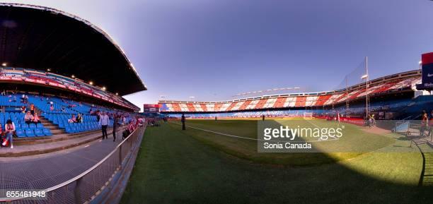 Vicente Calderon Stadium before The La Liga match between Atletico Madrid v Valencia FC at Vicente Calderon on March 19 2017 in Madrid Spain
