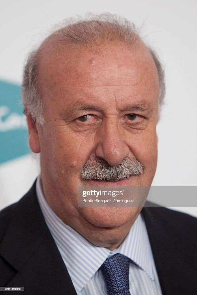 Vicente del Bosque attends 'As Del Deporte' Awards 2012 at The Westin Palace Hotel on December 10, 2012 in Madrid, Spain.