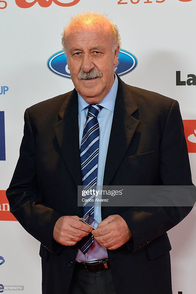 <a gi-track='captionPersonalityLinkClicked' href=/galleries/search?phrase=Vicente+del+Bosque&family=editorial&specificpeople=2400668 ng-click='$event.stopPropagation()'>Vicente del Bosque</a> attends the 2015 'AS Del Deporte' Awards at The Westin Palace Hotel on December 14, 2015 in Madrid, Spain.