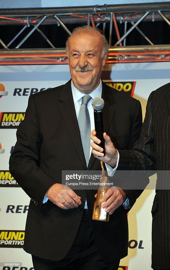 <a gi-track='captionPersonalityLinkClicked' href=/galleries/search?phrase=Vicente+del+Bosque&family=editorial&specificpeople=2400668 ng-click='$event.stopPropagation()'>Vicente del Bosque</a> attends the Sport Annual Gala In Barcelona at palau de Congresos on February 11, 2013 in Barcelona, Spain.