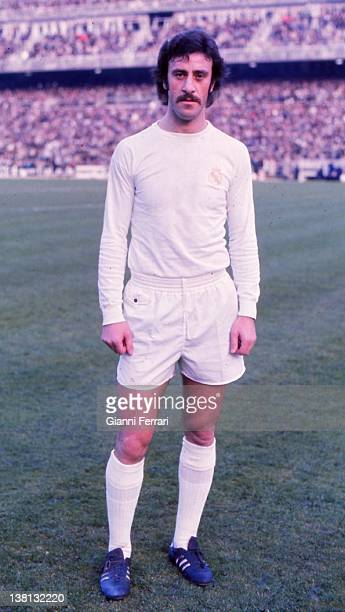 Vicente Del Bosque soccer player of Real Madrid in the stadium 'Santiago Bernabeu' 1974 Madrid Spain