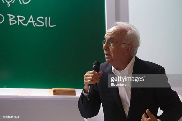 Vicente Falconi founder of the Falconi management consulting group speaks at the launching of the Falconi Educacao foundation in Sao Paulo Brazil on...
