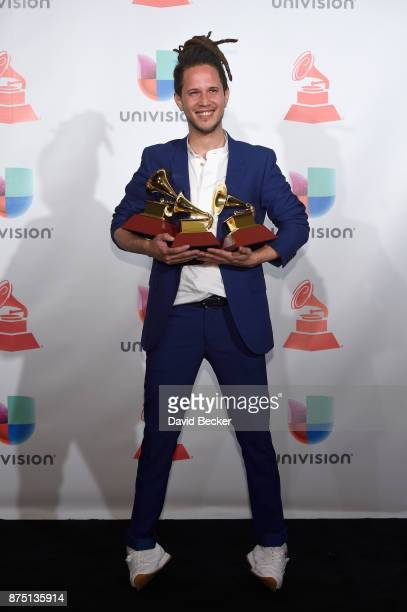Vicente Garcia poses in the press room during The 18th Annual Latin Grammy Awards at MGM Grand Garden Arena on November 16 2017 in Las Vegas Nevada
