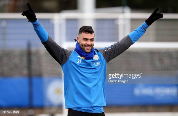 Vicente Iborra during a Leicester City training session at Belvoir Drive Training Complex on December 7 2017 in Leicester United Kingdom