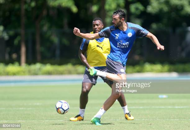 Vicente Iborra of Leicester City during the training session in Hong Kong ahead of the Premier League Asia Trophy final against Liverpool on July 21...