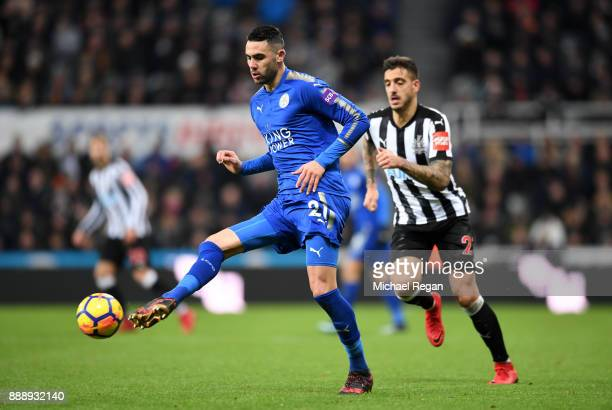 Vicente Iborra of Leicester City in action during the Premier League match between Newcastle United and Leicester City at St James Park on December 9...