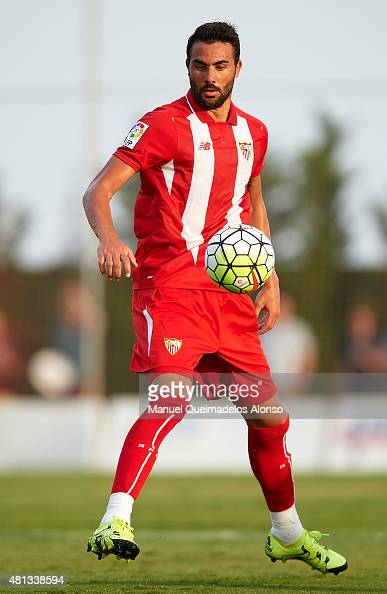 Vicente Iborra of Sevilla in action during a Pre Season Friendly match between Sevilla and Alcorcon at Pinatar Arena Stadium on July 19 2015 in San...