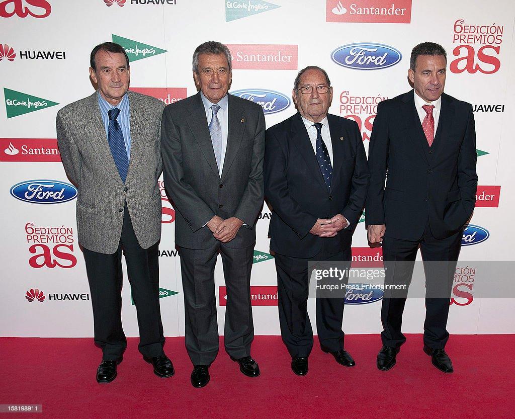 Vicente Miera, Enrique Perez Diaz, Francisco Gento and Paco Buyo attend As Del Deporte' Awards 2012 on December 10, 2012 in Madrid, Spain.