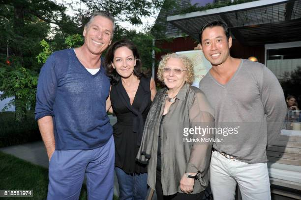 Vicente Wolf Margaret Russell Sylvia Vogelman and Matthew Yee attend GODS LOVE WE DELIVERMid Summer Night Drinks Benefit at Home of Chad A Leat on...