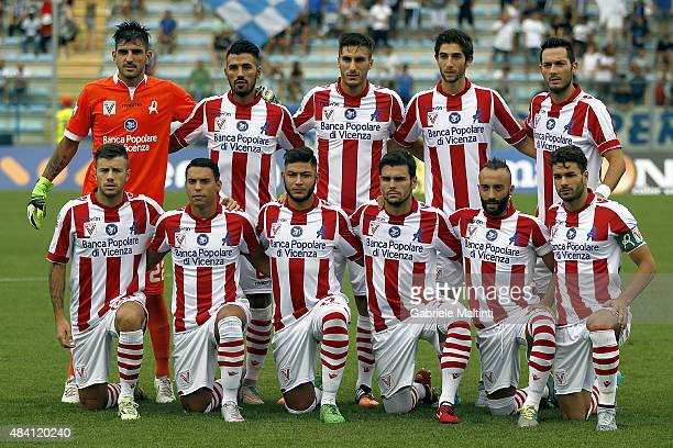 Vicenza Calcio poses prior the TIM Cup match between Empoli FC and Vicenza Calcio at Stadio Carlo Castellani on August 15 2015 in Empoli Italy