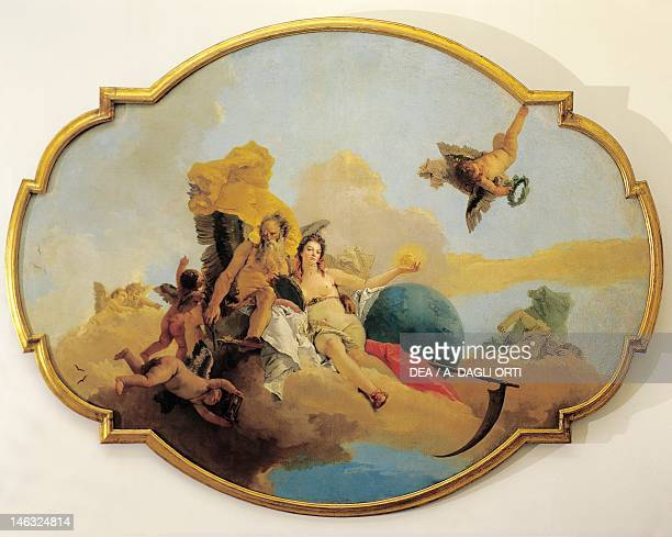 Vicenza Museo Civico Palazzo Chiericati Truth Unveiled by Time by Giovanni Battista Tiepolo oil on canvas 254x340 cm