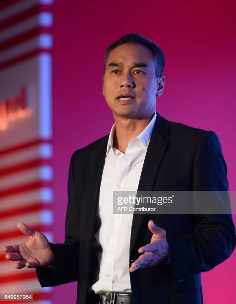 VicePresident and General Manager for Homes in greater China and High Growth Regions for Honeywell Dino Asvaintra speaks during the launch of a new...