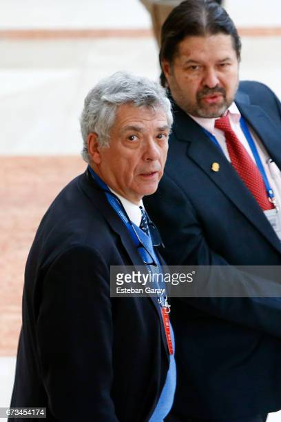 VicePresident Angel María Villar looks on during the 67th CONMEBOL Congress at Sheraton Hotel on April 26 2017 in Santiago Chile