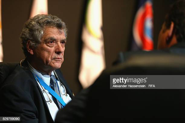 VicePresident Angel Maria Villar Llona looks on prior to the the FIFA Council meeting ahead of the 66th FIFA Congress at Presidente InterContinental...