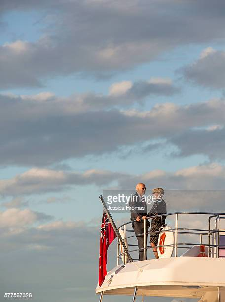 VicePresident Joe Biden takes a cruise on Sydney Harbour with Australian Foreign Minister Julie Bishop on July 19 2016 in Sydney Australia Biden is...