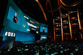 Vicepresident of PR Marketing for Bethesda Pete Hines speaks during the Bethesda E3 2015 press conference at the Dolby Theatre on June 14 2015 in Los...