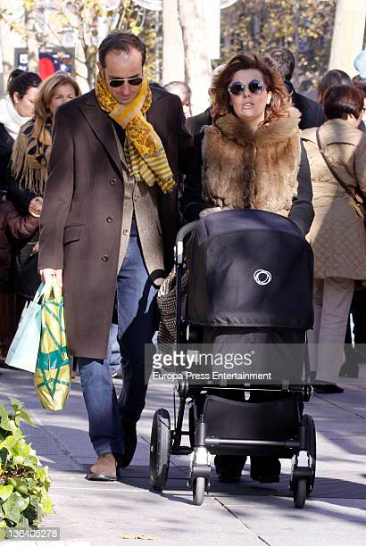 Vicepresident of Spanish government Soraya Saenz de Santamaria her husband Ivan Rosa and their son Ivan Rosa are seen on December 17 2011 in Madrid...