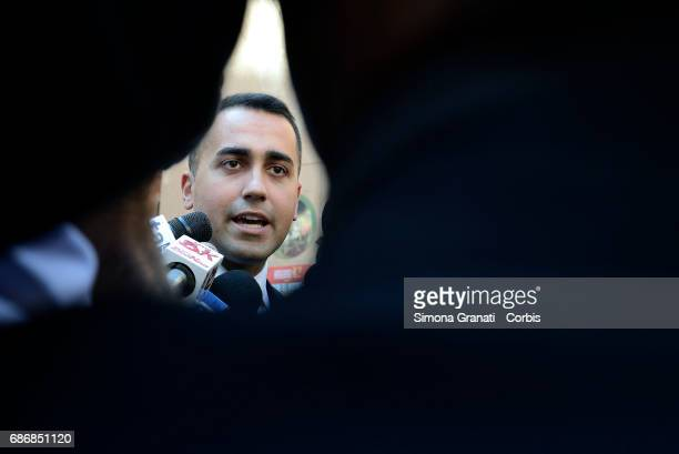 VicePresident of the Chamber of Deputies Luigi Di Maio releases interviews to the press before attending an Alternative Energy Meeting in Piazza...