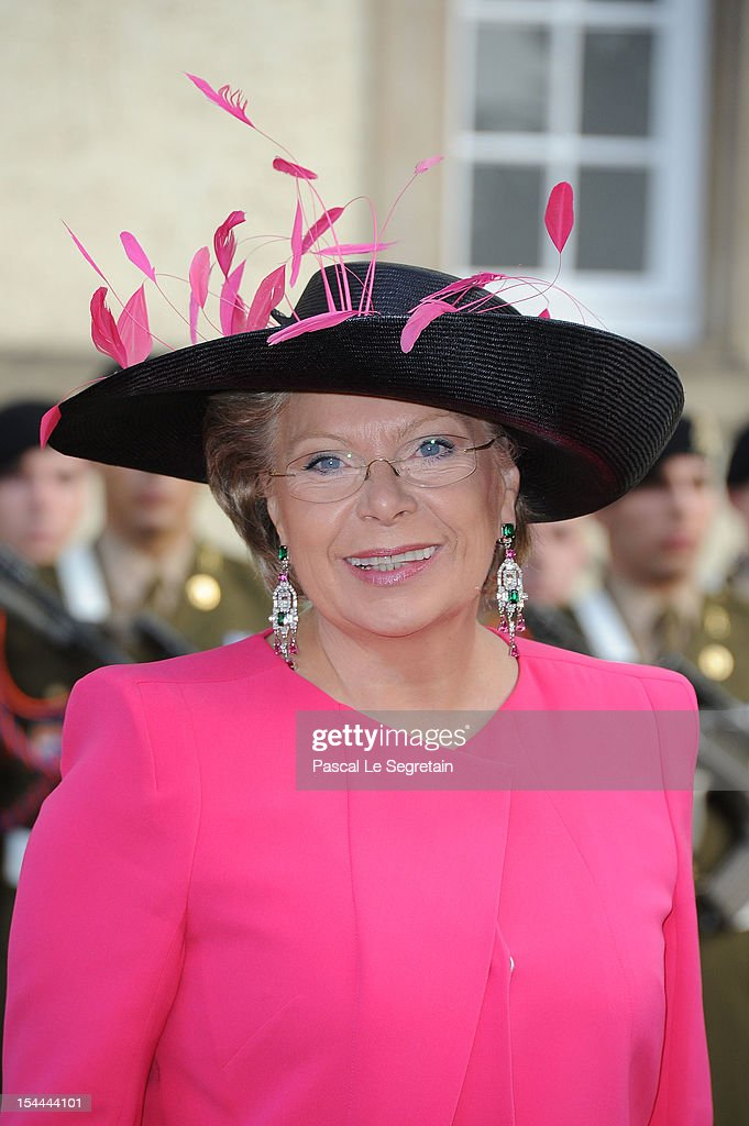 Vice-President of the European commisssion in charge of Justice, Fundamental Rights and Citizenship, Viviane Reding attends the wedding ceremony of Prince Guillaume Of Luxembourg and Princess Stephanie of Luxembourg at the Cathedral of our Lady of Luxembourg on October 20, 2012 in Luxembourg, Luxembourg. The 30-year-old hereditary Grand Duke of Luxembourg is the last hereditary Prince in Europe to get married, marrying his 28-year old Belgian Countess bride in a lavish 2-day ceremony.