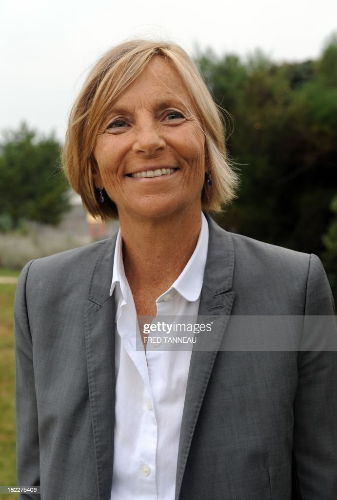 Vice-president of the French centrist Modem party Marielle de Sarnez poses during her party's meeting in Guidel, western France, on September 29, 2013. French president of the Modem Francois Bayrou said on September 29 that French President Francois Hollande hadn't achieved his 'promises' and praised German chancellor Angela Markel's 'courage'. AFP PHOTO/FRED TANNEAU