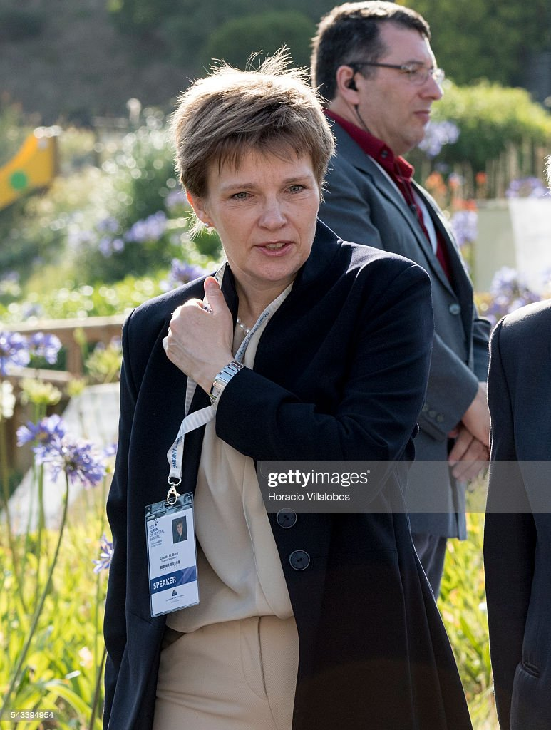 Vice-President of the German Bundesbank Claudia Buch arrives to participate in the ECB Forum on Central Banking on June 28, 2016 in Sintra, Portugal. The third annual European Central Bank Forum on Central Banking focuses on 'The future of the international monetary and financial architecture', a key topic of debate among economists and policymakers. Some 150 central bank governors, academics, financial journalists and high-level financial market representatives will discuss current policy issues and the chosen topic from a longer-term perspective.