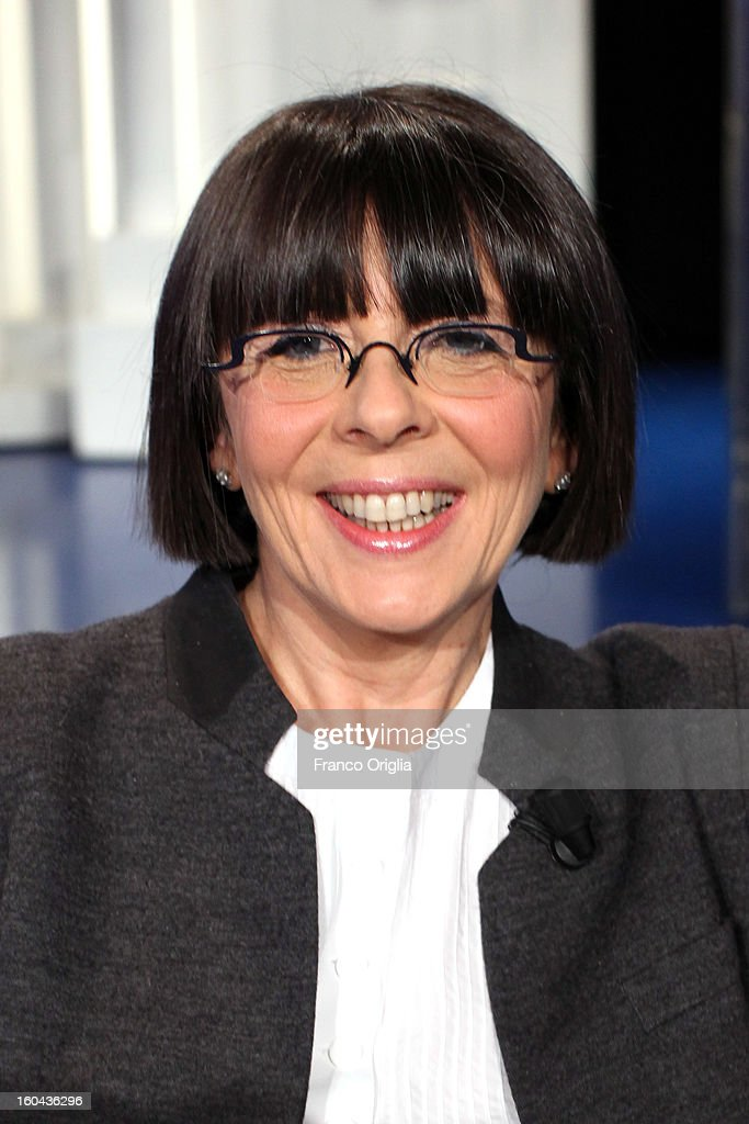 Vice-President of the Italian Democratic Party (PD) Marina Sereni attends 'Porta A Porta' TV show on January 31, 2013 in Rome, Italy. National Elections in Italy are scheduled for February 24.