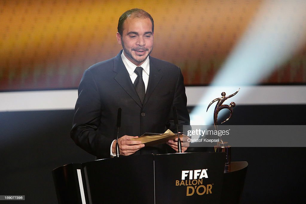 VicePresident Prince Ali Bin AlHussein announces Uzbekistan with president Mirabror Usmanov as the winner of the FIFA Fair Play award of FIFA...