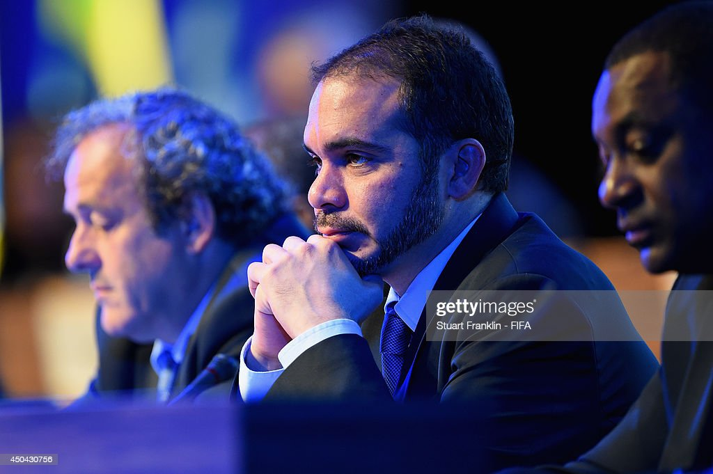 Vice-President Prince Ali Bin Al-Hussein (C) looks on during the 64th FIFA Congress at the Transamerica Expo Center on June 11, 2014 in Sao Paulo, Brazil.