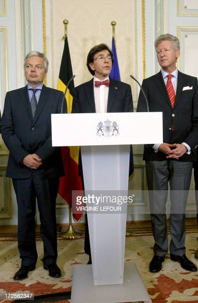 VicePrime Minister and Foreign Minister Didier Reynders Belgian Prime Minister Elio Di Rupo and VicePrime Minister and Defence Minister Pieter De...