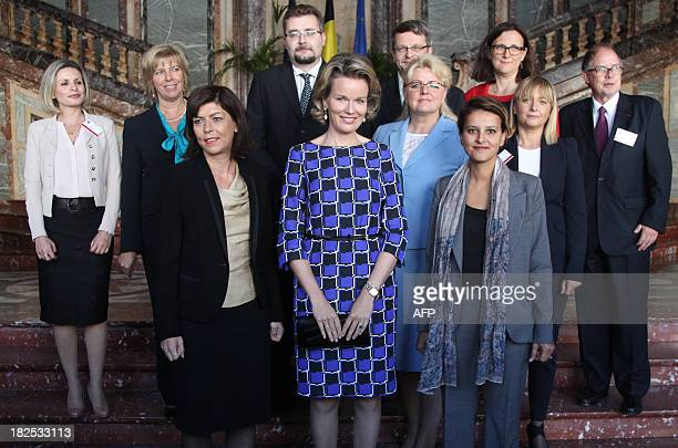 VicePrime Minister and Interior Minister Joelle Milquet Queen Mathilde of Belgium and French Minister for Women's Rights and Government Spokesperson...