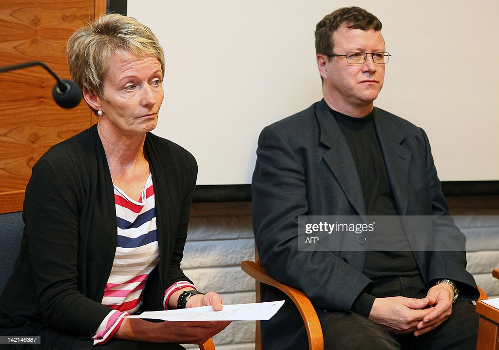 Vice-principal Ulla Eronen (L) and Orivesi school principal Timo Hakulinen (R) attend a press conferance on March 30, 2012 in Orivesi, some 45kms northeast of Tampere, after a gunman opened fire at the crowded school and inside an office building before being arrested, officials said, in what appeared to be a revenge attack on an ex-girlfriend. No-one was injured in the school attack but police said one person was slightly wounded in the office building. AFP PHOTO / LEHTIKUVA / Tomas Amos Kouba