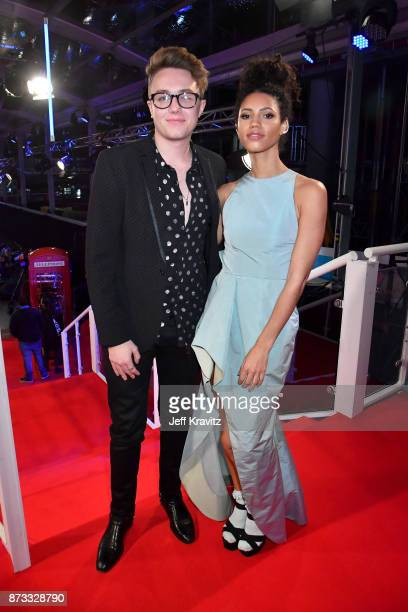 Vick Hope and Roman Kemp attend the MTV EMAs 2017 held at The SSE Arena Wembley on November 12 2017 in London England