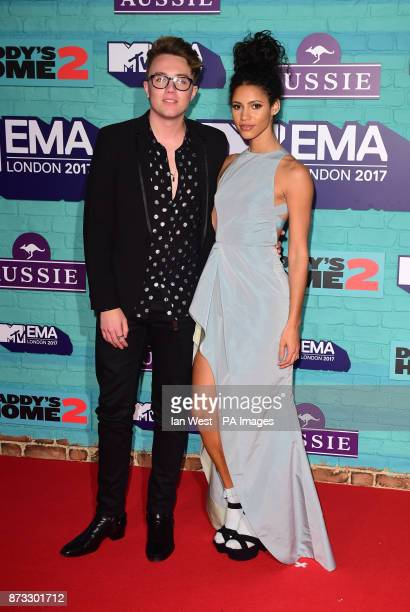 Vick Hope and Roman Kemp attending the MTV Europe Music Awards 2017 held at The SSE Arena London