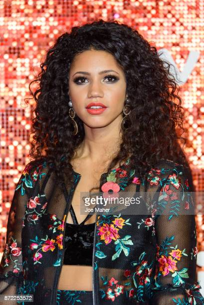 Vick Hope arriving at the ITV Gala held at the London Palladium on November 9 2017 in London England