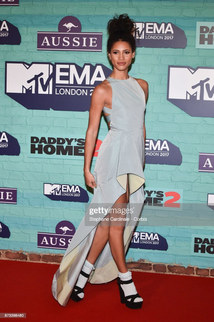 Vick Hope attends the MTV EMAs 2017 at The SSE Arena, Wembley on November 12, 2017 in London, England.